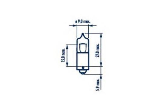 17835 Лампа галогенная 10шт в упаковке H20W 12V 20W BA9s
