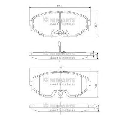J3601074 Колодки тормозные NISSAN MAXIMA QX (A33) 2.0-3.0 00- передние