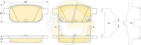 6135299 Колодки тормозные SUZUKI SWIFT 10- задние