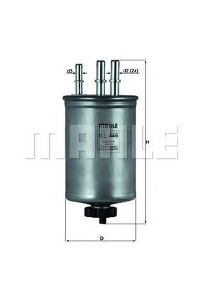 KL446 Фильтр топливный FORD/HYUNDAI/KIA/SSANGYONG DIESEL