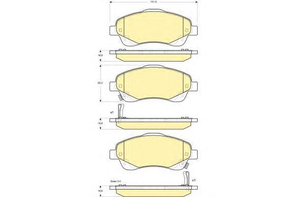 6133364 Колодки тормозные TOYOTA AVENSIS 03/COROLLA VERSO 1.8/2.0D/2.2D пер.