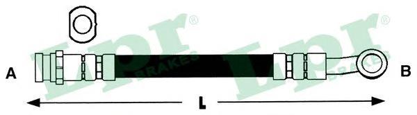 6T47617 Шланг тормозной NISSAN ALMERA (N15) 95-00 передний правый