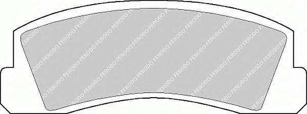 FDB195 Колодки тормозные CHEVROLET NIVA/ ВАЗ 2121 передние