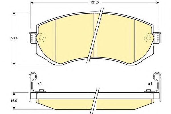 6132089 Колодки тормозные NISSAN ALMERA N15 97-00 передние/PATROL 97-10 задние