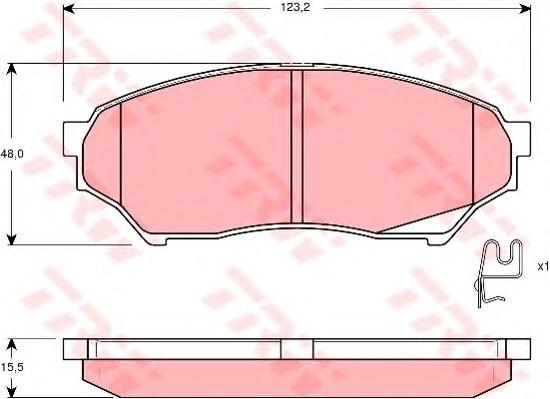 GDB3270 Колодки тормозные MITSUBISHI PAJERO PININ 1.8-2.0D 99- передние
