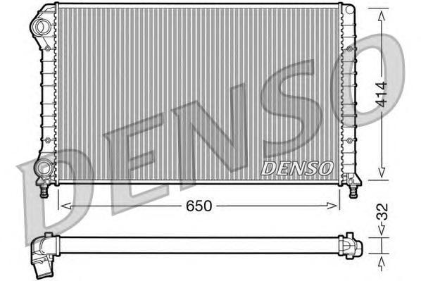 DRM09062 Радиатор системы охлаждения FIAT: DOBLO (119) 1.4/1.6/1.9 D (223AXB1A)/1.9 D Multijet 01 - , DOBLO Cargo (223) 1.9 D (2