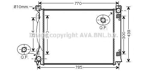 AIA2253 Радиатор AUDI A6 3.0TD A/T 04-11