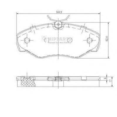 J3601080 Колодки тормозные OPEL VIVARO/RENAULT TRAFIC 01- передние