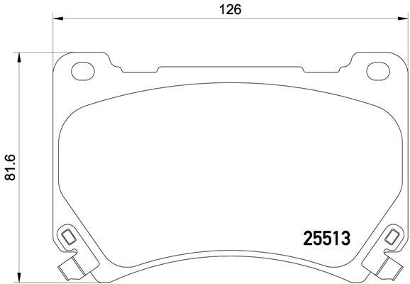 P30052 Колодки тормозные HYUNDAI EQUUS 09- передние
