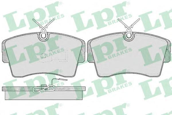 05P407 Колодки тормозные OPEL OMEGA 3.0/SENATOR 2.2-3.0 -93 передние