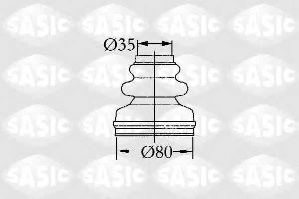 2873813 Пыльник ШРУСа CITROEN BERLINGO/BX/XANTIA/XSARA/PEUGEOT 205-405 82-05 внутр.