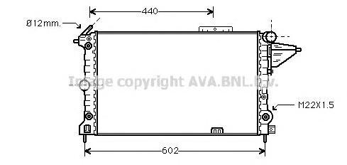 OLA2120 Радиатор OPEL VECTRA A 1.8/2.0/1.7D 88-96