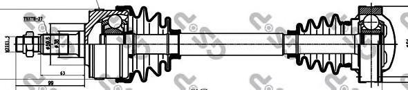 235002 Привод в сборе MB VITO W638 2.0-2.3D 96-03 пер. лев./прав. +ABS