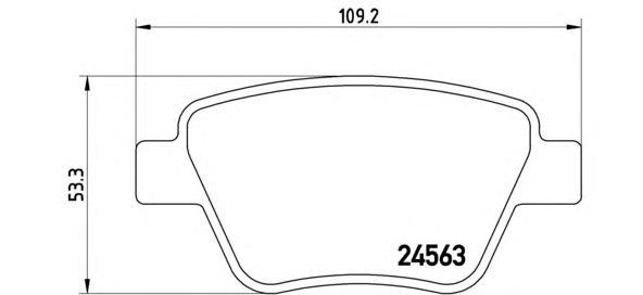P85114 Колодки тормозные SKODA OCTAVIA 04-/SUPERB 08-/VW CADDY/TOURAN 10- задние