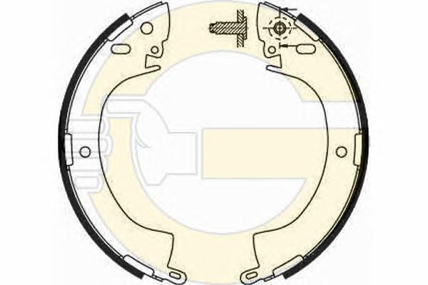 5181859 Колодки торм.бар.MITSUBISHI L200/L300/PAJERO/SPACE GEAR 84-00