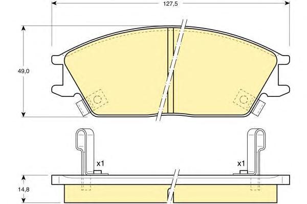 6108939 Колодки тормозные HYUNDAI ACCENT/GETZ передние