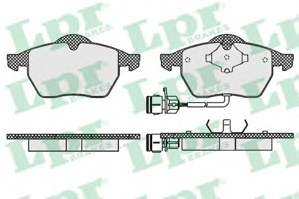 05P453 Колодки тормозные А100 9194/А6 9597 передние