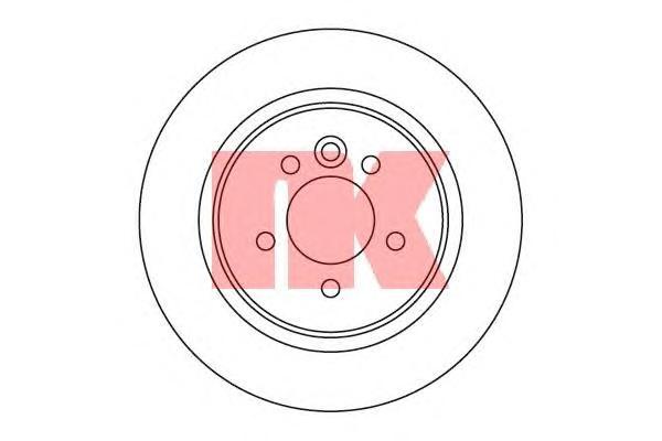 204018 Диск тормозной ROVER 75 99-/MG ZT 01- задний
