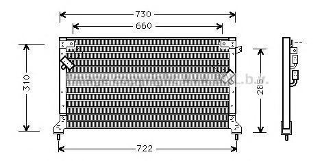 SU5040 Конденсер SUBARU LEGACY 2.0-2.5 94-99