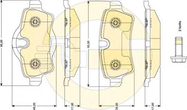6117661 Колодки тормозные MINI COOPER 06-/ONE/CLUBMAN 07- задние
