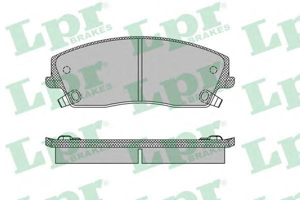 05P1399 Колодки тормозные CHRYSLER 300C 04- передние