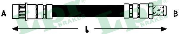 6T47857 Шланг тормозной OPEL CORSA 00-/TIGRA 04- задний