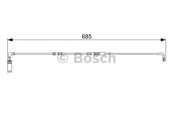 1987473003 Датчик износа торм.колодок BMW E60/61