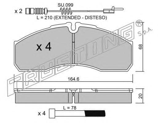 5945W К-т торм. колодок Fr с датч. MB Sprinter 5-t 01-
