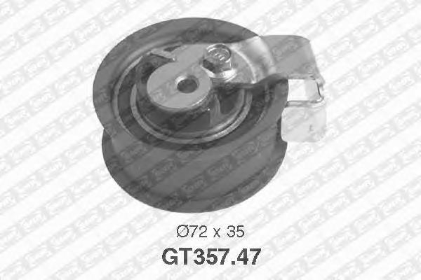 GT35747 Деталь GT357.47_pолик натяжной pемня ГPМ