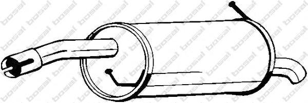 154203 Глушитель FORD FIESTA V 1.4 01-