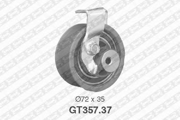 GT35737 Деталь GT357.37_pолик натяжной pемня ГPМ