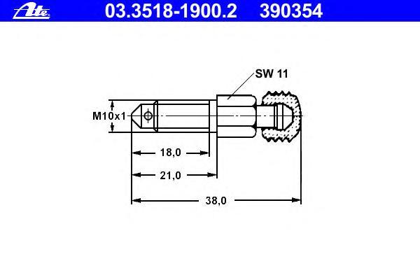 03351819002 Штуцер тормозного суппорта переднего