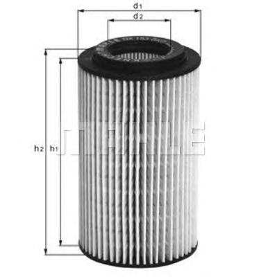 OX153D4 Фильтр масляный CHRYSLER PT CRUISER 2.2D 02-