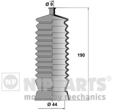 J2847002 Пыльник рулевой рейки SUBARU IMPREZA/LEGACY I/II