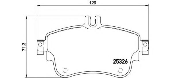 p50094 Колодки MERCEDES-BENZ B-CLASS (W246) 11