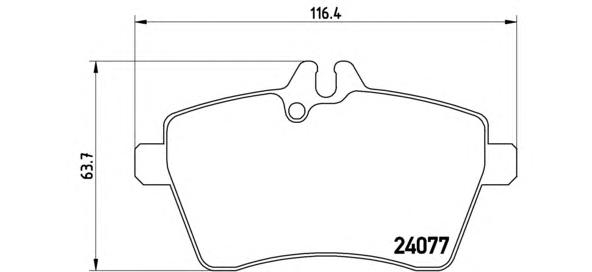 P50056 Колодки тормозные MERCEDES A-CLASS W169/B-CLASS W245 1.5-2.0 04- передние