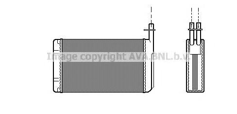 SB6040 Радиатор отопителя SAAB 9000 2.0-3.0 89-98