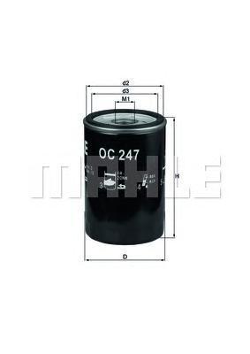 OC247 Фильтр масляный JEEP/GM