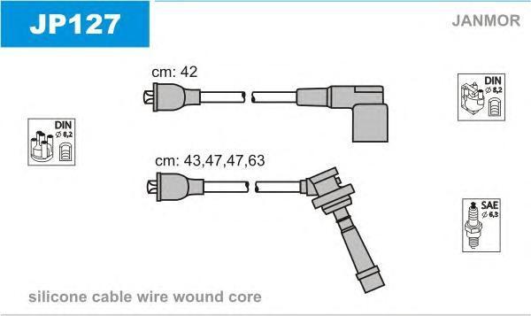 JP127 Комплект проводов зажигания SUZUKI: WAGON R+ 98-00