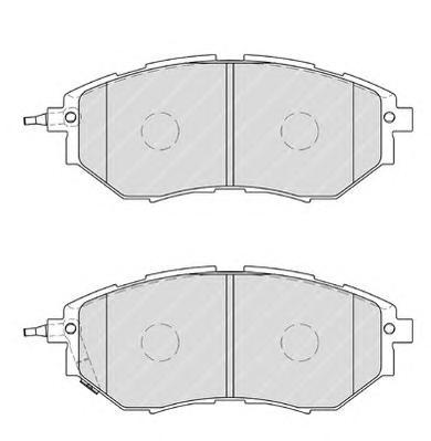 FDB1984 Колодки тормозные SUBARU LEGACY/OUTBACK/TRIBECA 2.0-3.6 03- передние