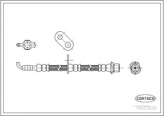 19033535 Шланг тормозной LEXUS: RX 3.3 AWD/300/350 AWD/400h/400h AWD 03-08