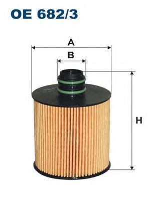 OE6823 Фильтр масляный FIAT DOBLO/PUNTO 1.6 D 02-