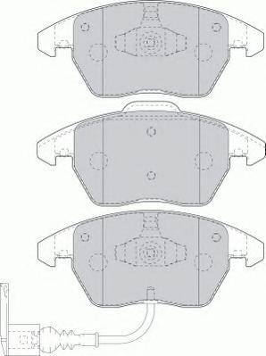 FDB1641 Колодки тормозные AUDI A3/VOLKSWAGEN G5/PASSAT 06/TOURAN 0306/CADDY 04 пер.