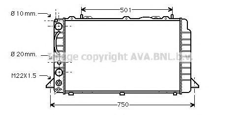 AIA2089 Радиатор AUDI 80 1.6/2.0/1.9TD 92-95