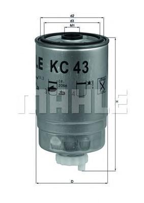KC43 Фильтр топливный IVECO