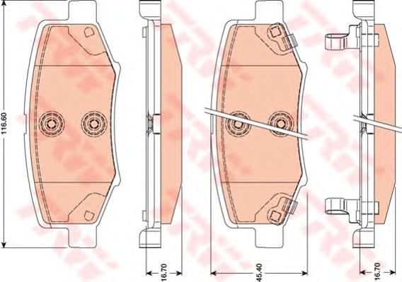 GDB4145 Колодки тормозные DODGE JOURNEY/NITRO/JEEP WRANGLER 2.4-3.7 06- задние