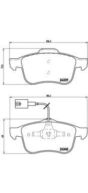 P23103 Колодки тормозные ALFA ROMEO 159/BRERA/SPIDER передние