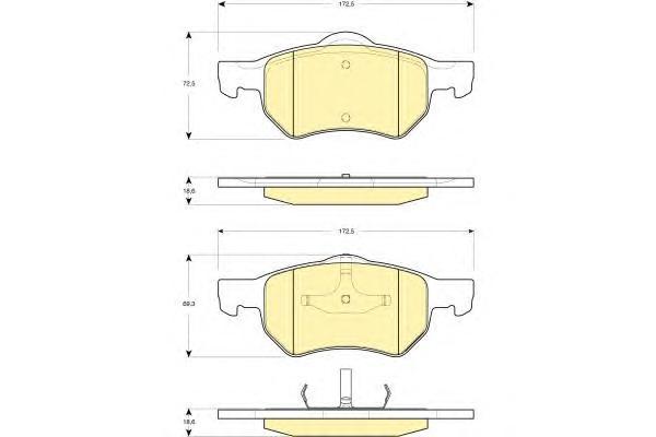 6141282 Колодки тормозные CHRYSLER VOYAGER/DODGE CARAVAN 00- передние