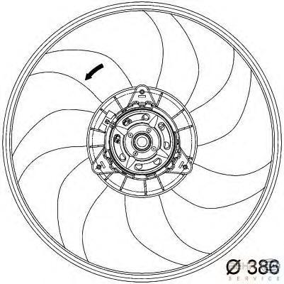 8EW351034291 Вентилятор радиатора OPEL: CORSA D 1.4/1.4 LPG 06-  VAUXHALL: CORSA Mk IV (D) (L8) 1.4 06-