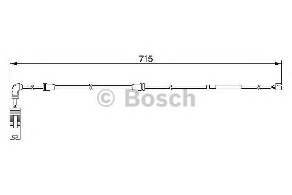 1987474946 Датчик износа торм.колодок BMW E53 3.0-4.8 зад.
